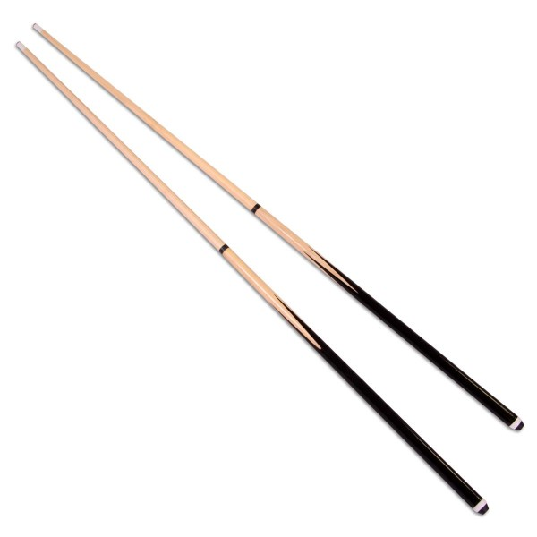 "2er Set Billardqueue Holz zweigeteilt ca. 146cm, 57"" Pool Snooker Klebeleder"