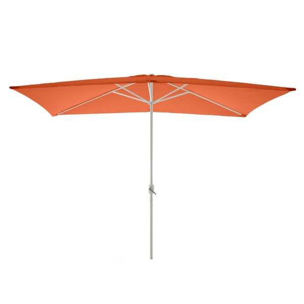 Sonnenschirm eckig 2x3m orange Kurbel Marktschirm Rechteckschirm Sonnenschutz