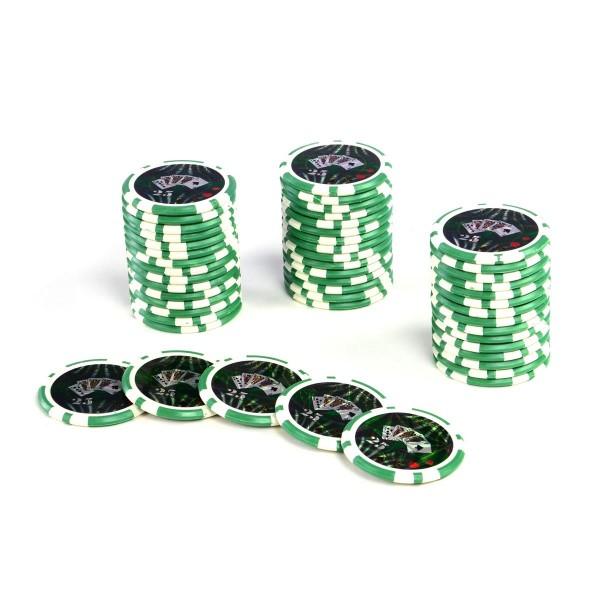 50 Poker-Chips Wert 25 Laserchip 12g Metallkern OCEAN-CHAMPION-CHIP abgerundet