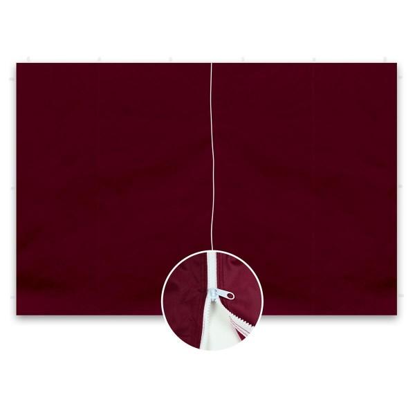 2 Seitenteile ohne Fenster für PROFI Falt Pavillon 3x3 m burgund Reißverschluss