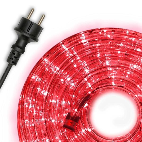 20m LED Lichterschlauch Lichtschlauch rot Innen Außen Weihnachten Kette