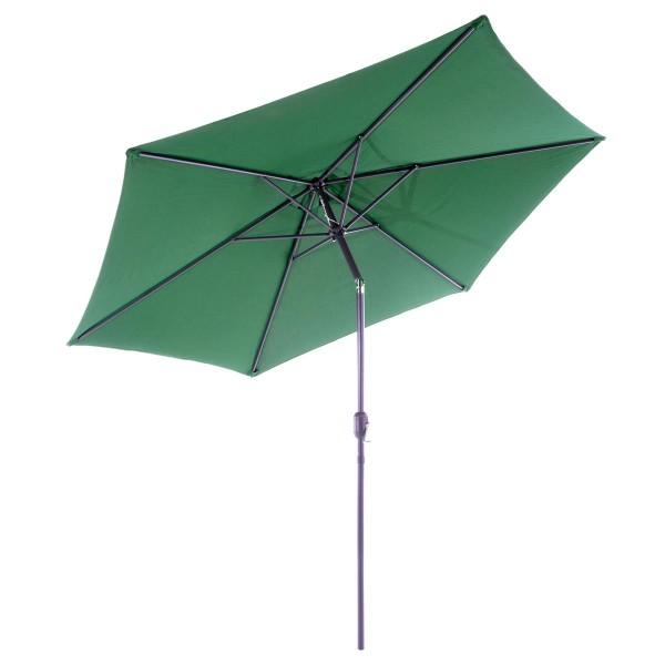 Sonnenschirm 2,90m grün mit Kurbel neigbar wasserabweisend UV Schutz 50+