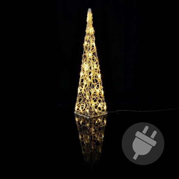 Lichterkegel Acryl 30er LED beleuchtete Pyramide Lichtpyramide warmweiß Trafo Timer