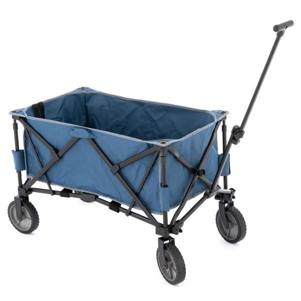 Bollerwagen Handwagen Faltwagen klappbar 90x52x32cm graublau bis 200kg 135L