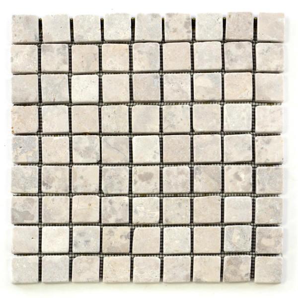 DIVERO 11 Fliesenmatten Naturstein Mosaik aus Marmor creme á 29x29cm