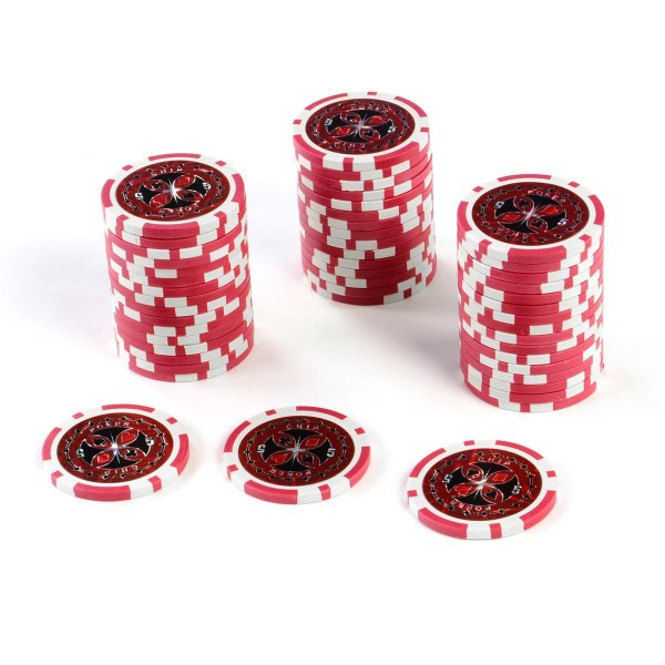 50 Poker-Chips Wert 5 Laserchip 12g Metallkern ergänzend zum Pokerkoffer
