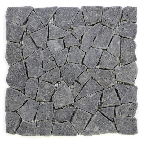 DIVERO 1 Fliesenmatte Naturstein Mosaik Andesit Wand Boden grau 30 x 30 cm