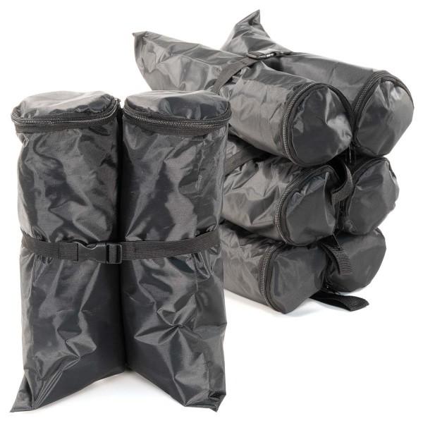 4er Set Pavillon Gewichtsmanschetten Standfuß Gewichtstaschen Sand-Tasche schwarz