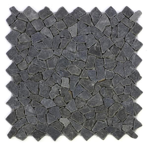 DIVERO 4 Fliesenmatten Naturstein Mosaik Andesit schwarz á 50 x 50 cm